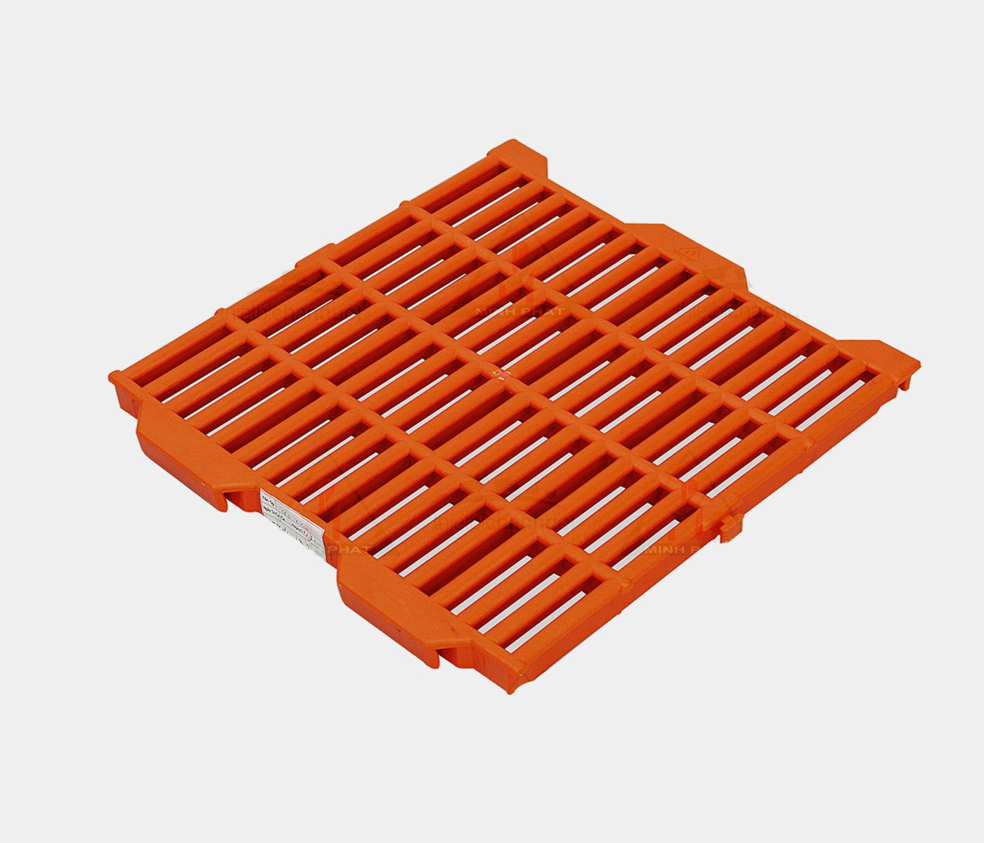 Sàn heo 40x40cm màu cam - SN01