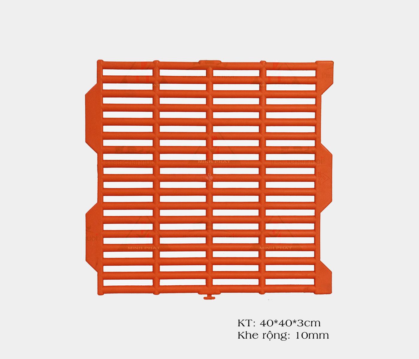Sàn nhựa 40x40cm màu cam-SN01