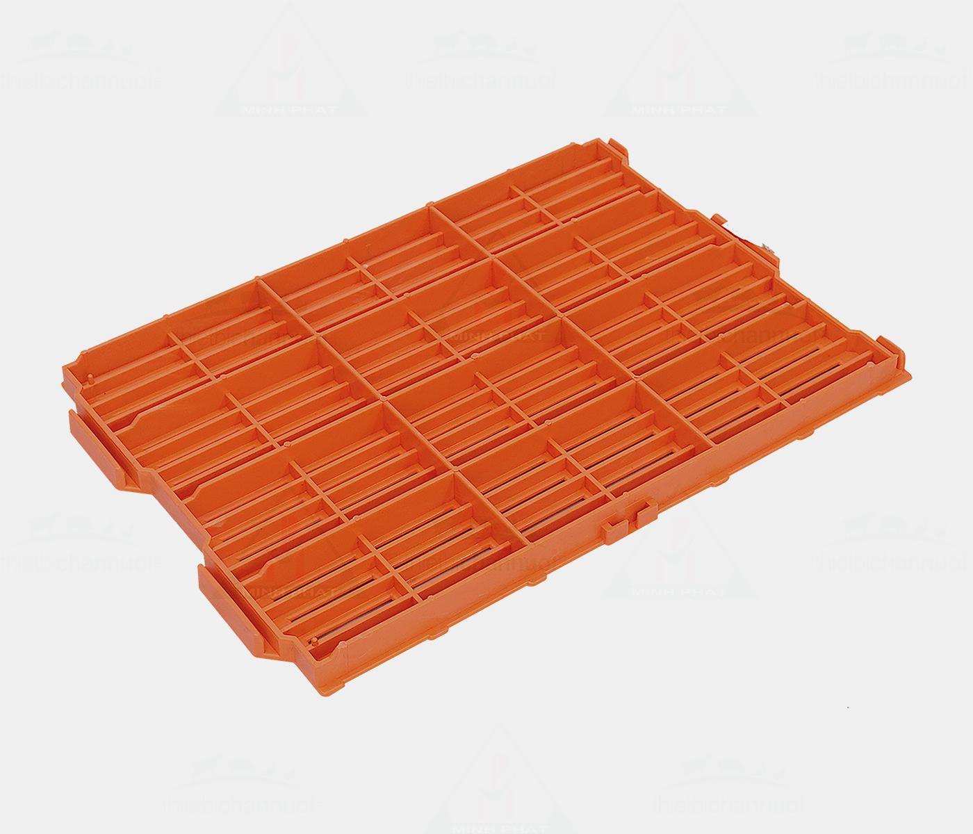 Sàn heo 40x55cm màu cam 1 chốt - SN07