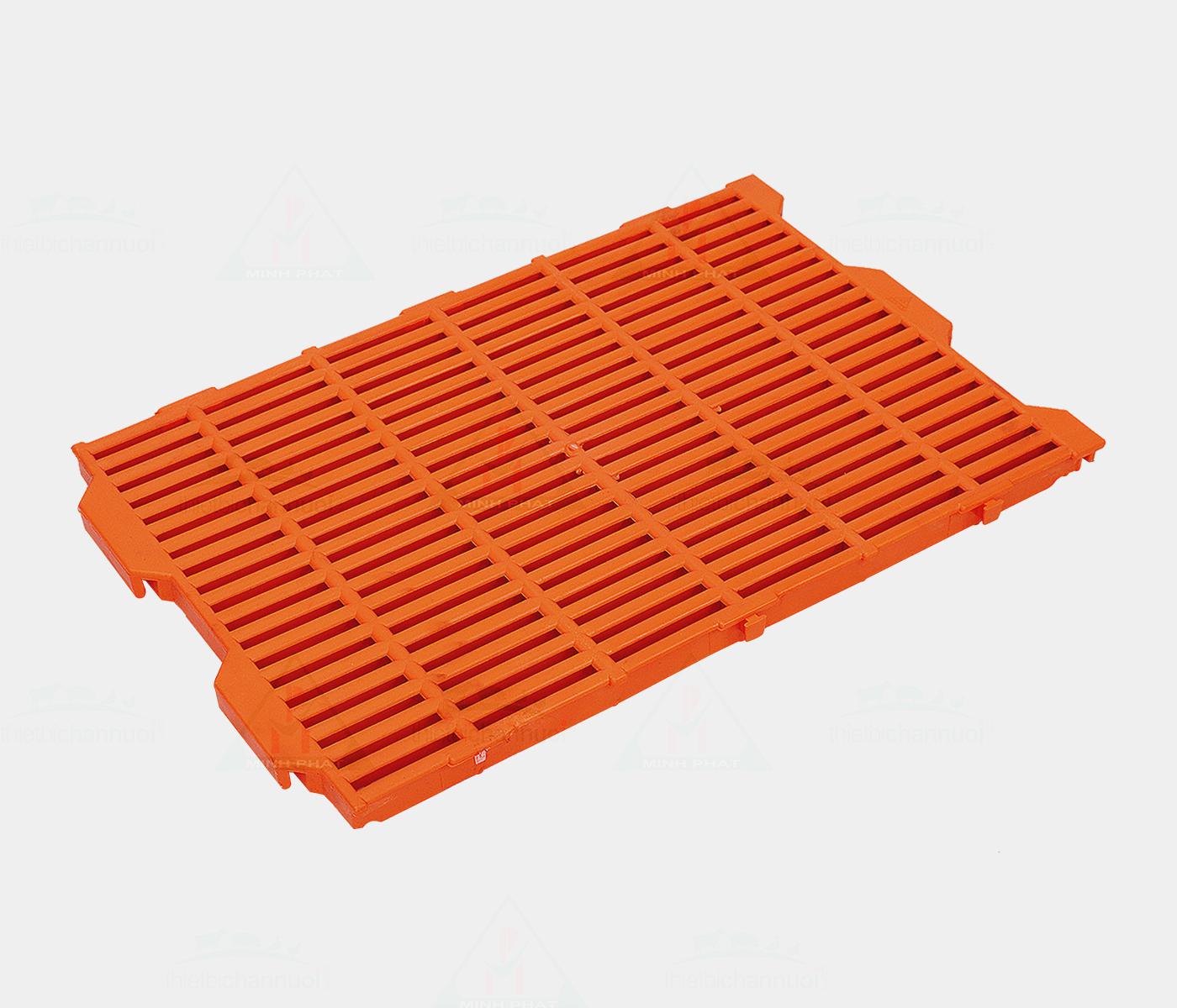 Sàn heo 40x60cm màu cam 3 chốt - SN11