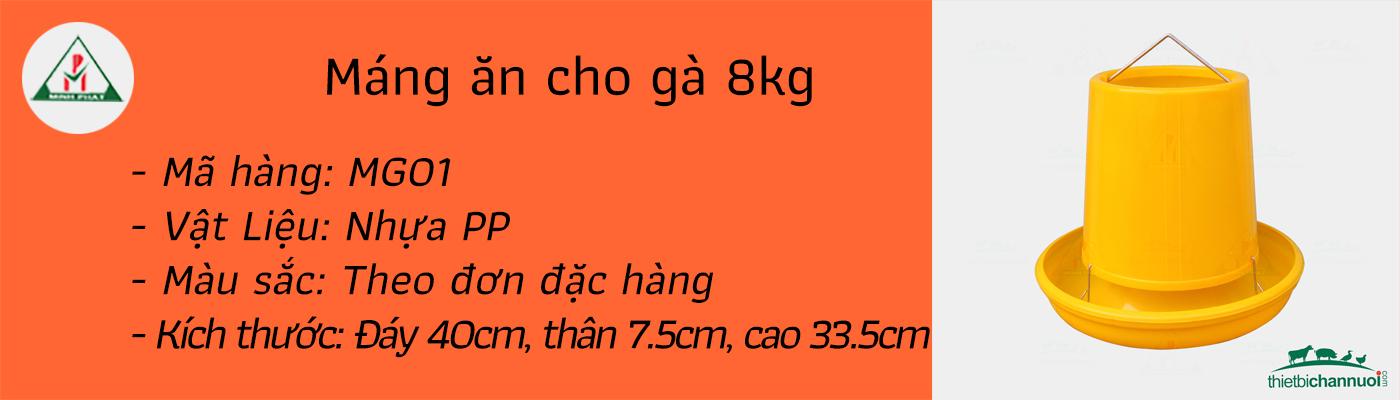 Máng ăn cho gà  8kg