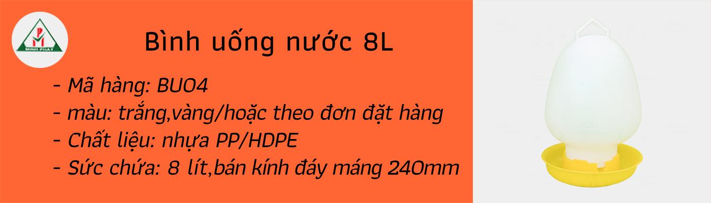 Bìnhh uống 8 lít - BU04