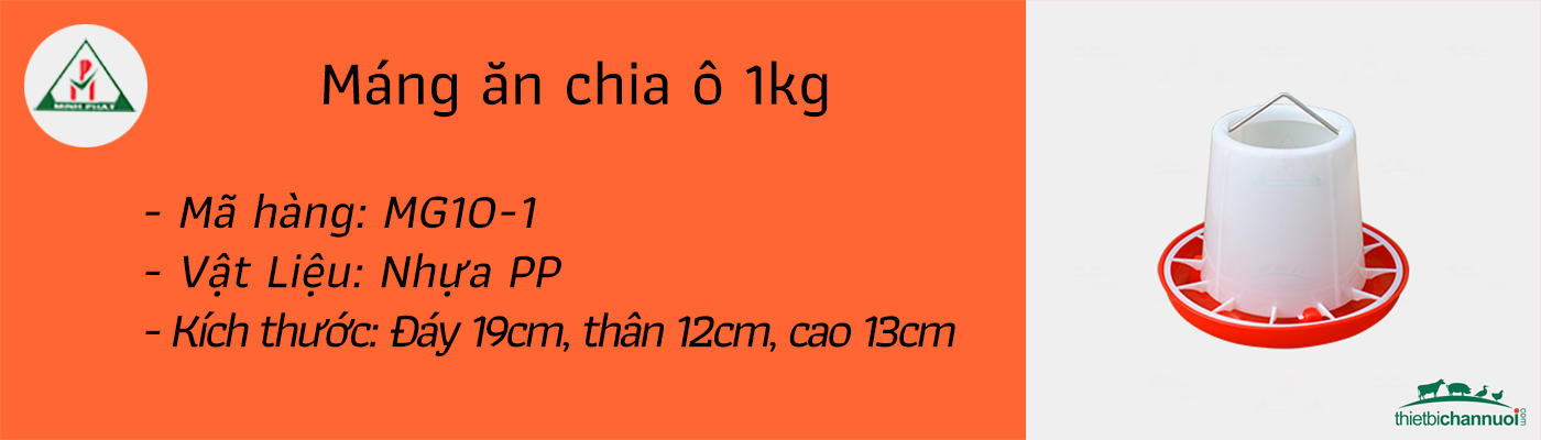 Máng ăn cho gà 1kg
