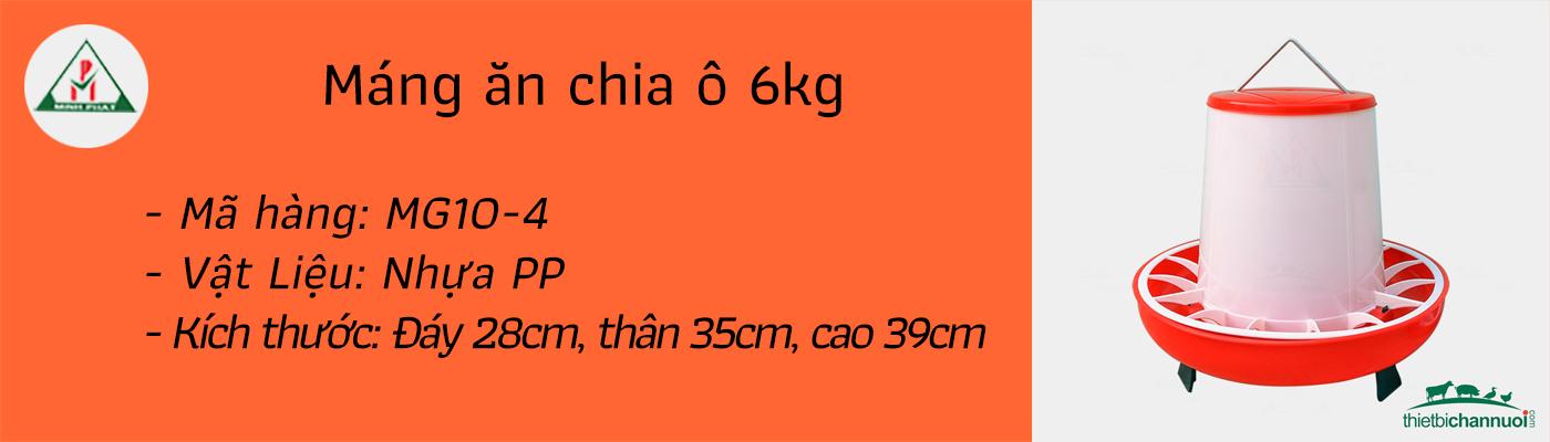 Máng ăn cho gà 6kg