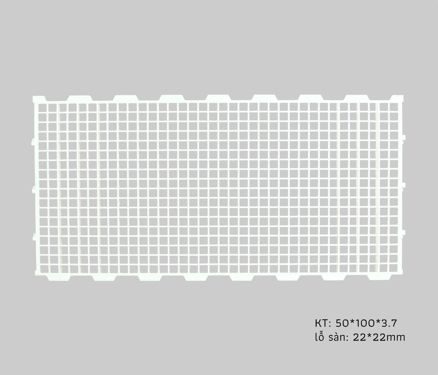 Sàn gia cầm 50x100cm lỗ vuông lớn - SN17