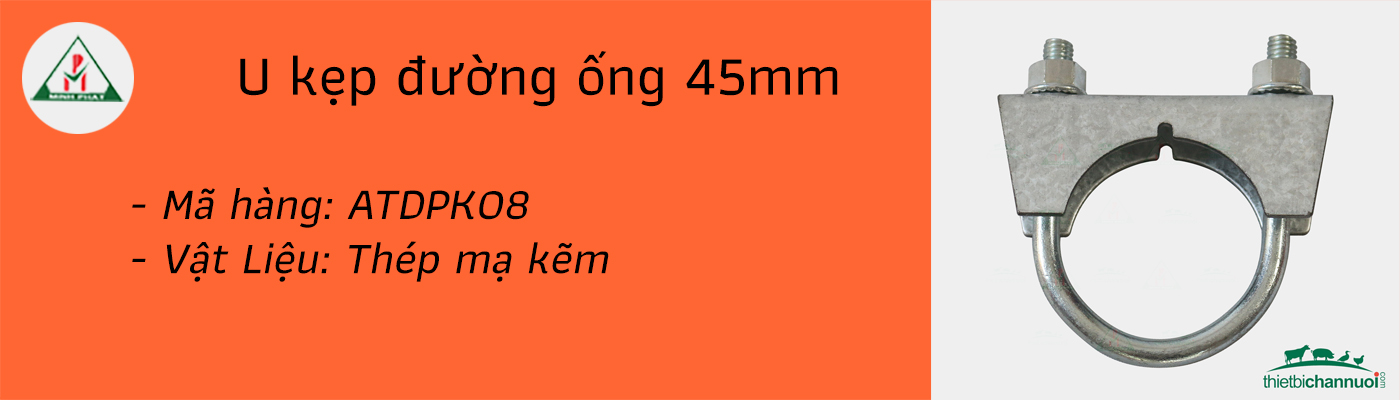 U kẹp đường ống 45mm
